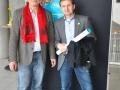 Gunter Lange lässt sich von Rüdiger Hoffmann in Sachen Computerspiele beraten