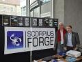 G. Lange und Roman Hoffmann auf dem Stand von SCORPIUS FORGE