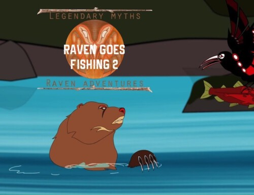 Raven Goes Fishing